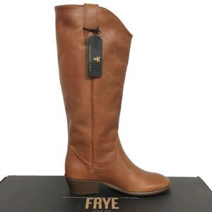 Frye Brown Carson Pull On Low Heel Riding Boot 8